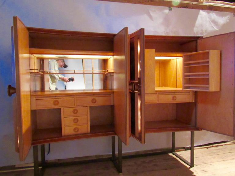 Wood Andrew Szoeke Dry Bar, circa 1950 For Sale