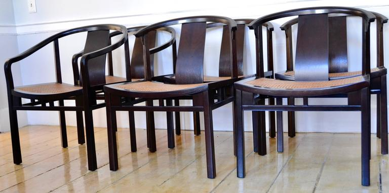 Fabulous Michael Taylor Six Caned Dining Chairs For Baker Circa 1954 Theyellowbook Wood Chair Design Ideas Theyellowbookinfo