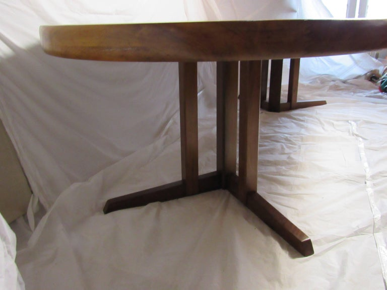 George Nakashima Extendable Walnut Dining Table Model 277 for Widdicomb, 1961 For Sale 1