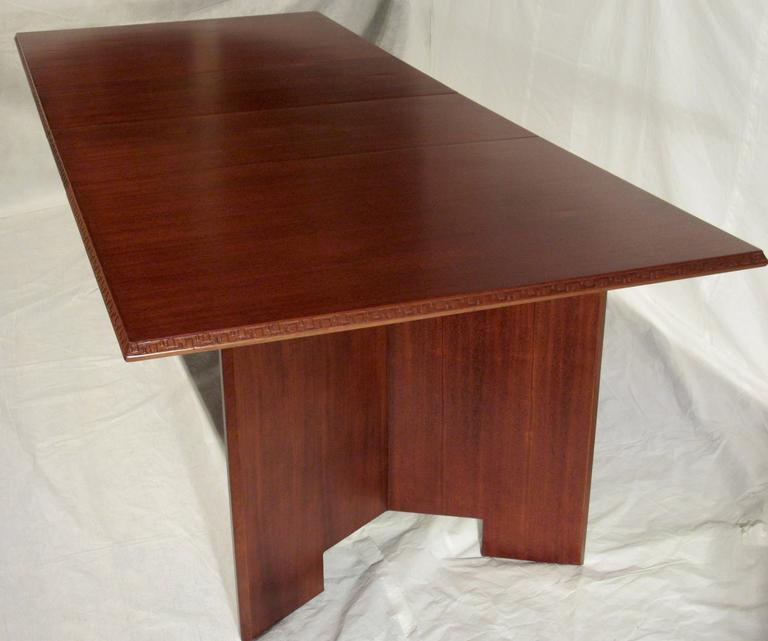 Mid Century Modern Frank Lloyd Wright Extension Mahogany Dining Table Heritage Henredon 1955 For