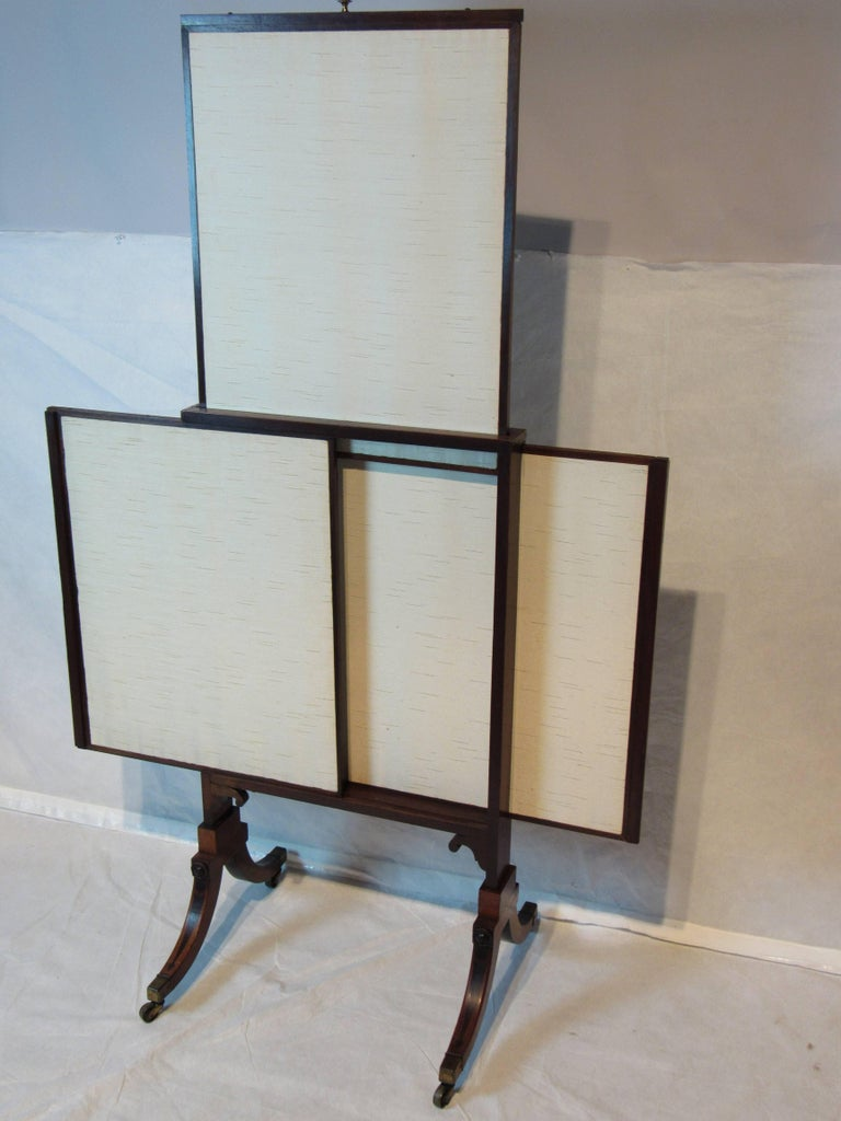 sheraton style mahogany fireplace screen circa 1830 for sale at