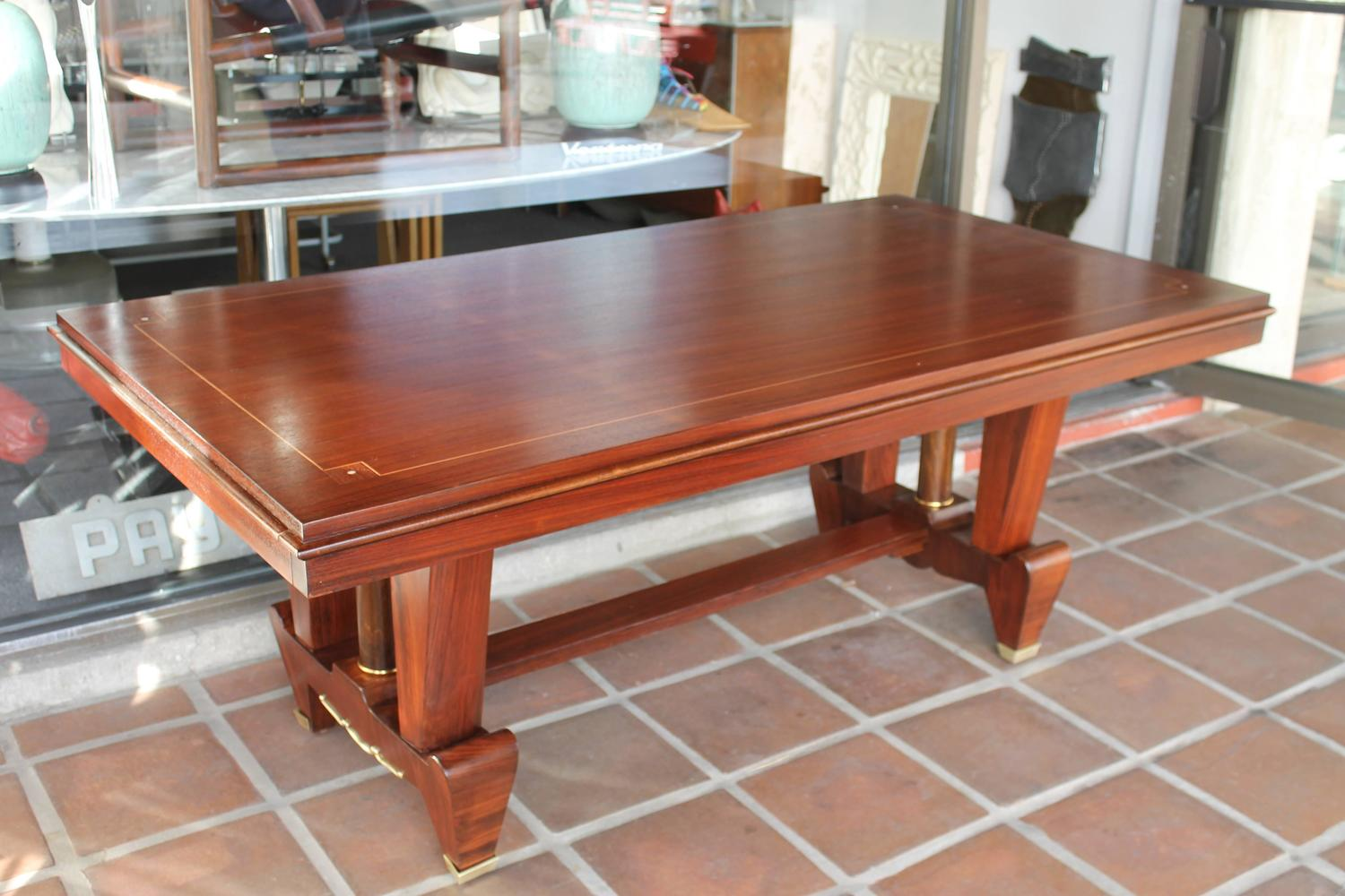 Art deco dining table for sale at 1stdibs for Dining room tables 38 inches wide