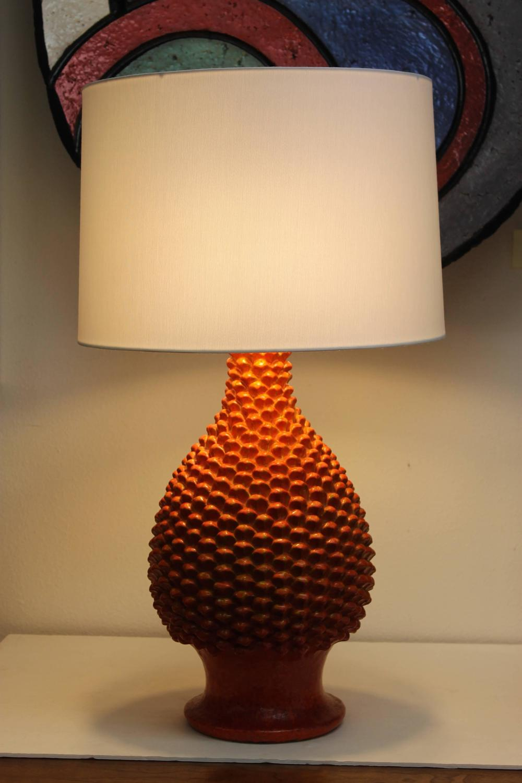Fantoni lamp orange pineapple design for sale at 1stdibs for Design table lamp giffy 17 7