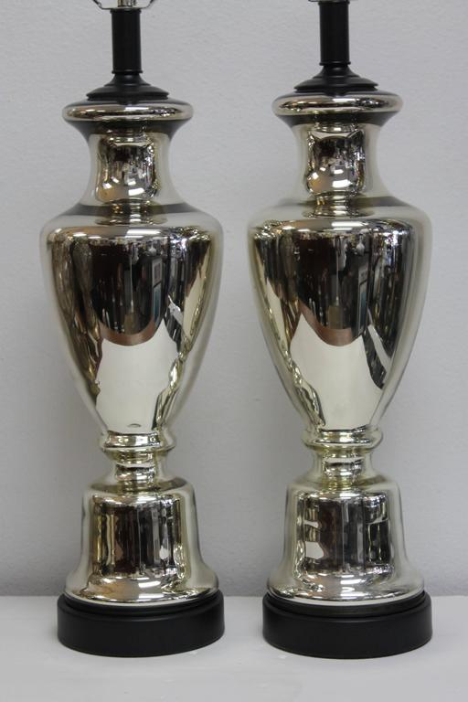 Pair Of Mercury Glass Lamps For Sale At 1stdibs