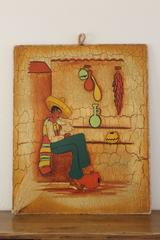 Wooden Panel, Mexican Motif