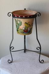 Spanish Pot by Bauer, Aztec Stand
