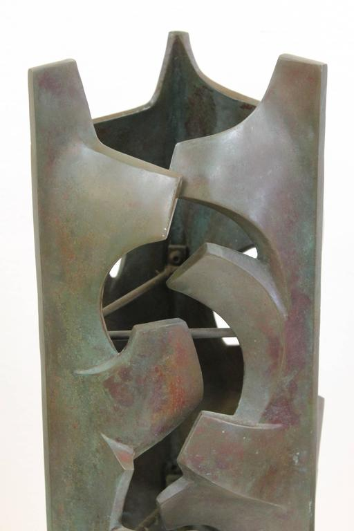 Mid-Century Modern Malcolm Leland Bronze Sculpture For Sale
