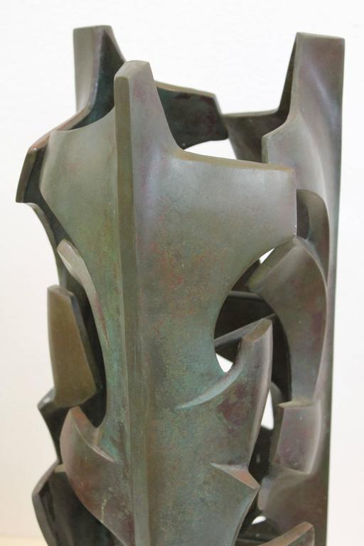 American Malcolm Leland Bronze Sculpture For Sale