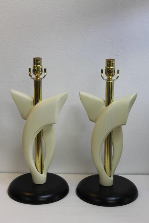 Pair of Lamps, Attributed to Heifetz In Excellent Condition For Sale In Palm Springs, CA