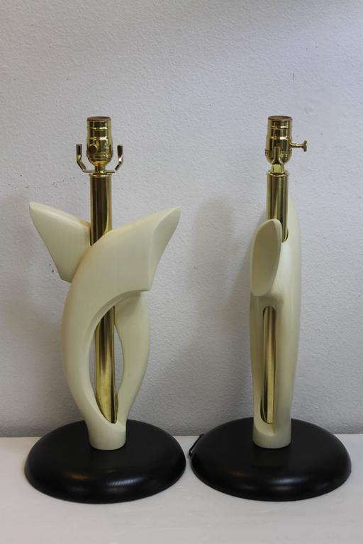 Mid-20th Century Pair of Lamps, Attributed to Heifetz For Sale