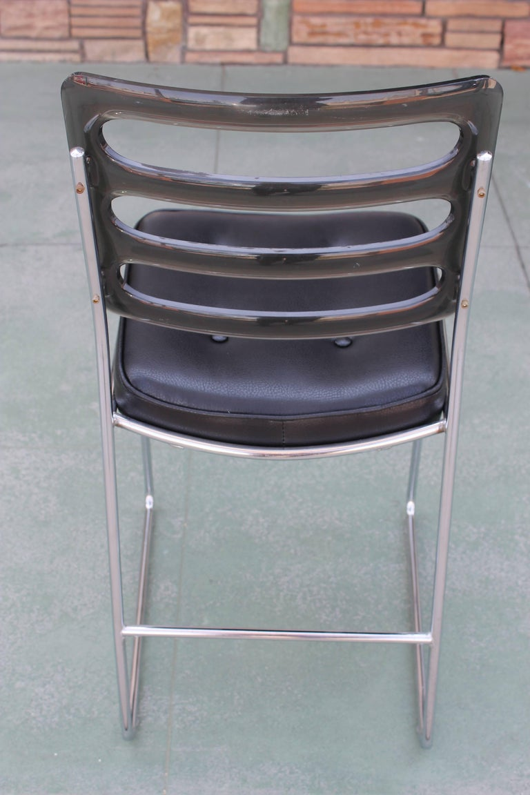 Set Of Four Mid Century Chromcraft Bar Stools For Sale At