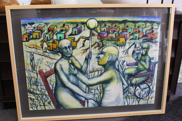 Mexican Daniel Rosel, 2001 Painting For Sale