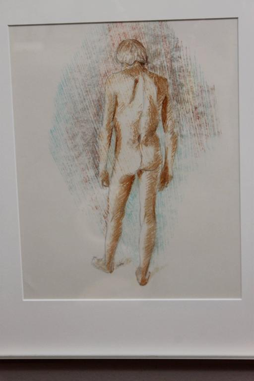 Faralla Nude Drawing, 1980 In Excellent Condition For Sale In Palm Springs, CA