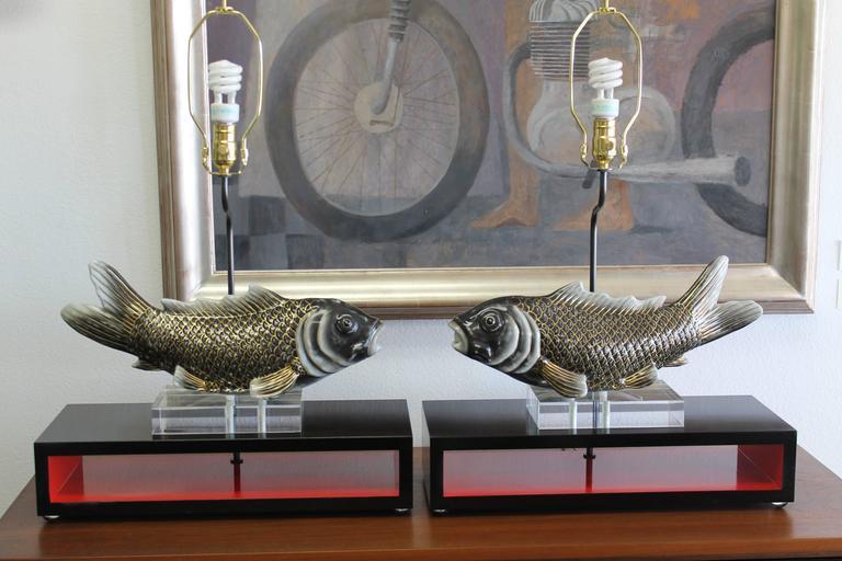 Studio Designed Koi Fish Lamps At 1stdibs