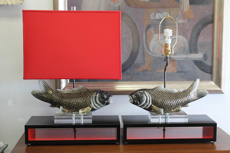 Studio designed koi fish lamps at 1stdibs for Koi furniture