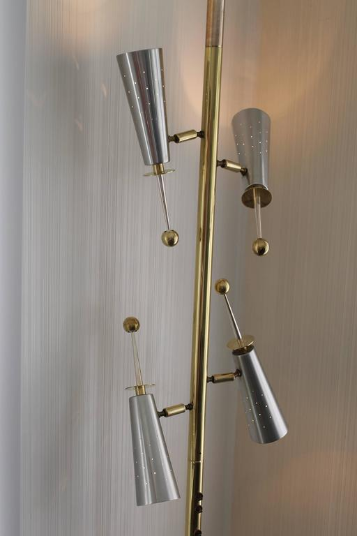 Stiffel Futura Floor To Ceiling Adjustable Pole Lamp At