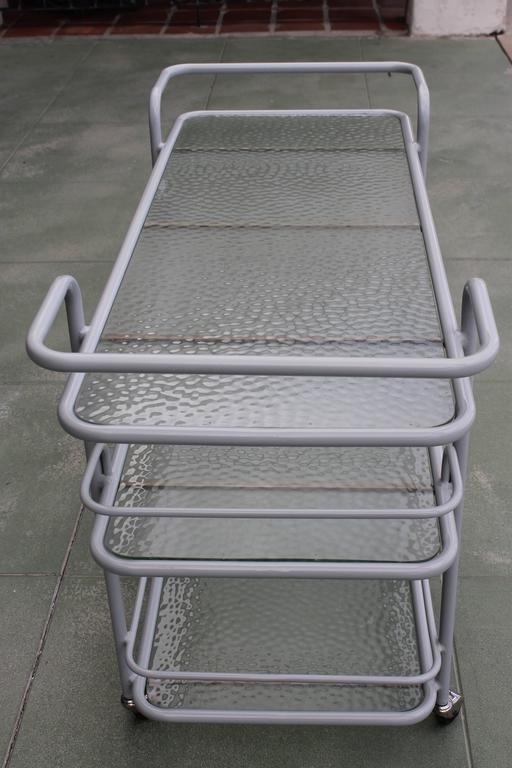 American Bar Cart by Richard Frinier for Brown Jordan For Sale