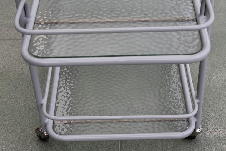 Bar Cart by Richard Frinier for Brown Jordan In Excellent Condition For Sale In Palm Springs, CA