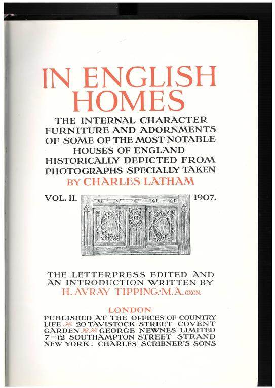 IN ENGLISH HOMES, 'Set of Three Books' For Sale 1
