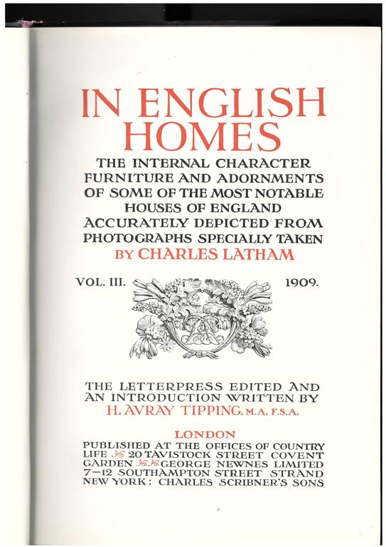 IN ENGLISH HOMES, 'Set of Three Books' For Sale 4