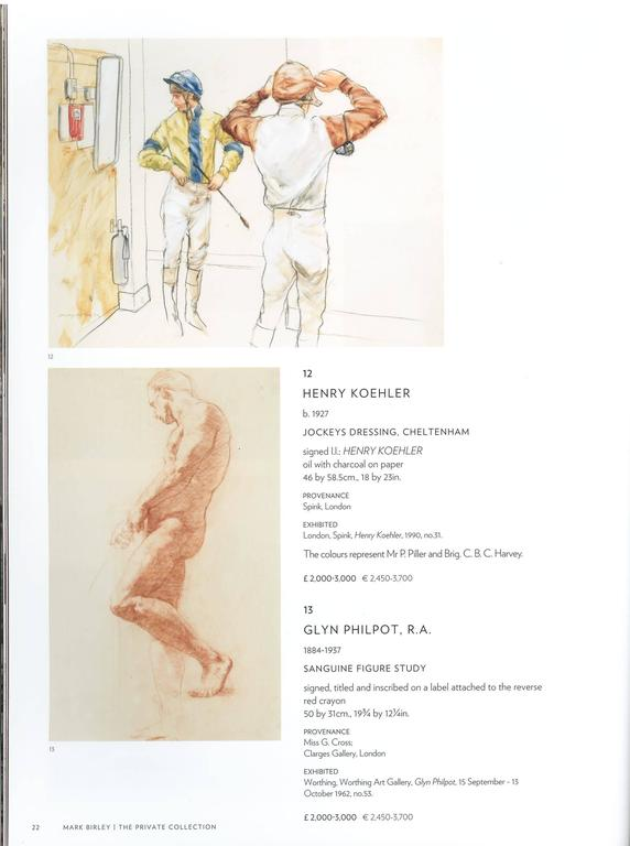 We have a pair of sale catalogues from 2013. One produced by Sotheby's for the private collection of Mark Birley, the owner of famed London nightclub Annabels on Berkeley Square and the contents of his London Home Thurloe Lodge. There are works of