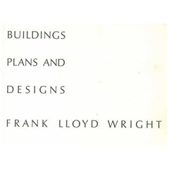 Buildings-plans-designs Frank Lloyd Wright Folio