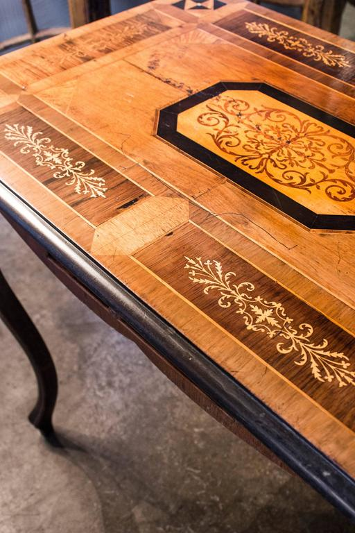 Dutch Walnut Marquetry Table 3