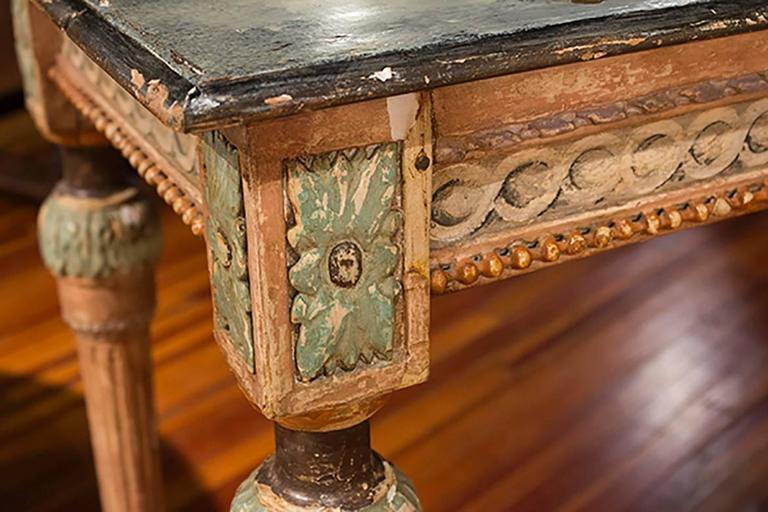 Louis XVI Painted Faux Painted Top Console 2