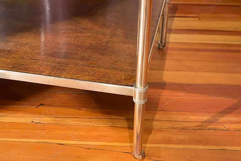English Brass and Mahogany Low Table 2
