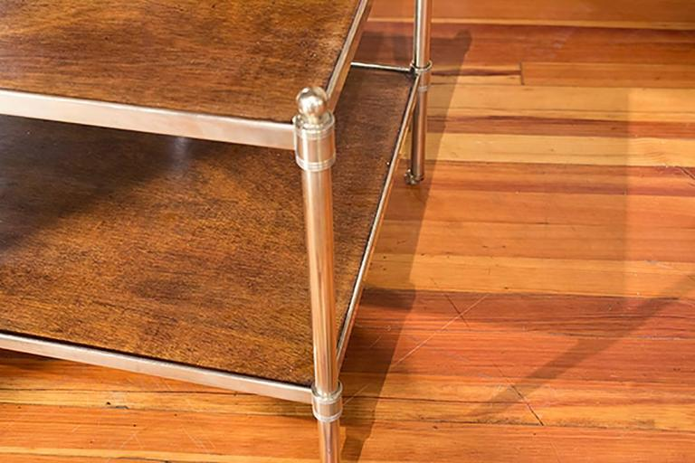 English Brass and Mahogany Low Table 3