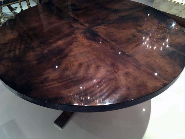 Italian Centre Table with Parchment Top by Aldo Tura 2
