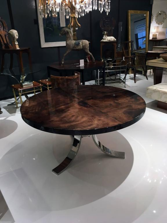 Italian Centre Table with Parchment Top by Aldo Tura 3