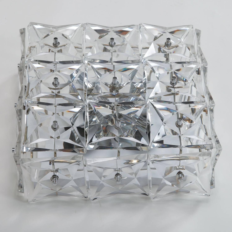 Square Kinkeldey Crystal Sconce or Flush Mount at 1stdibs