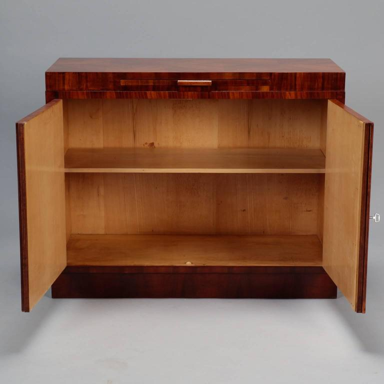 bauhaus bookmarked burr walnut server with pull out tray. Black Bedroom Furniture Sets. Home Design Ideas
