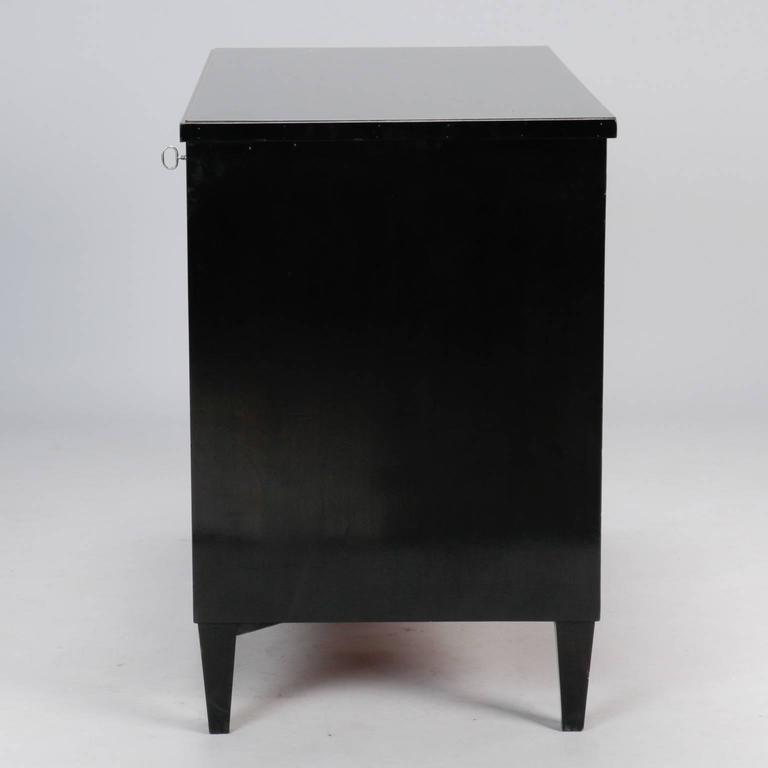 20th Century Three-Drawer Ebonised Chest For Sale