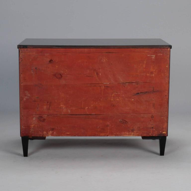 Three-Drawer Ebonised Chest For Sale 2