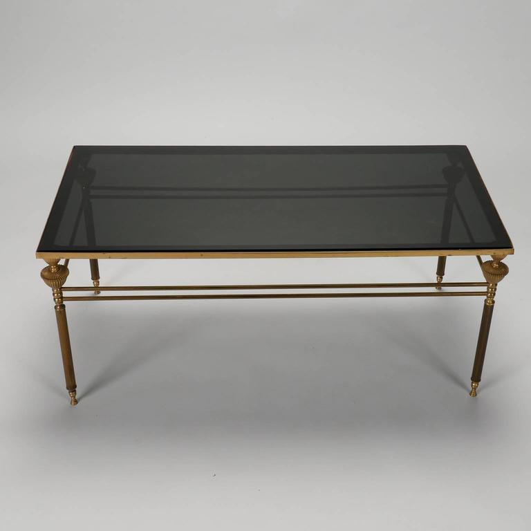 French Br And Smoked Gl Coffee Table For At 1stdibs