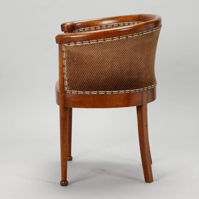 Set Of Four Curved Back Art Deco Chairs For Sale At 1stdibs