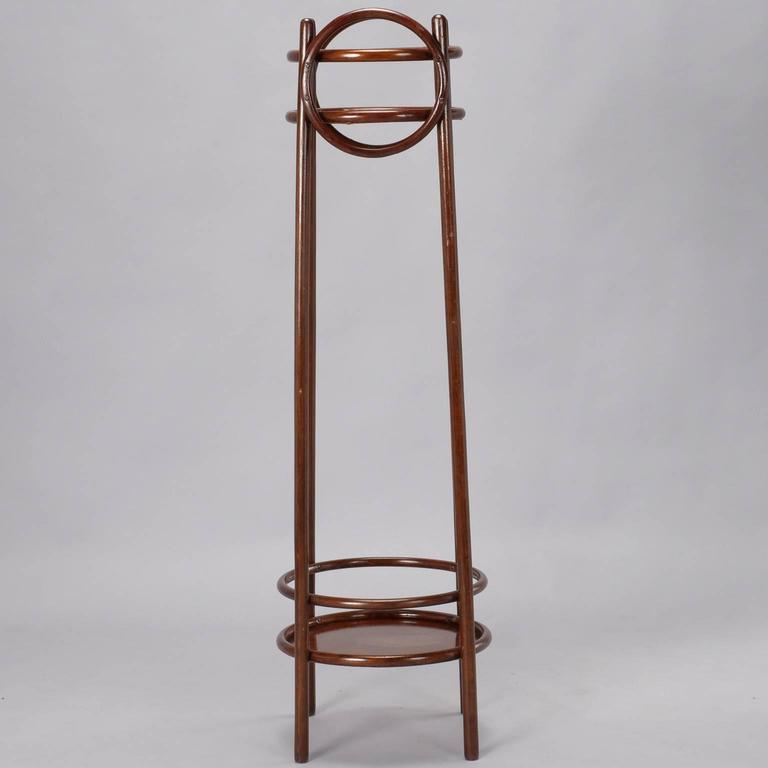 20th Century Thonet Art Nouveau Bentwood Plant Stand For Sale