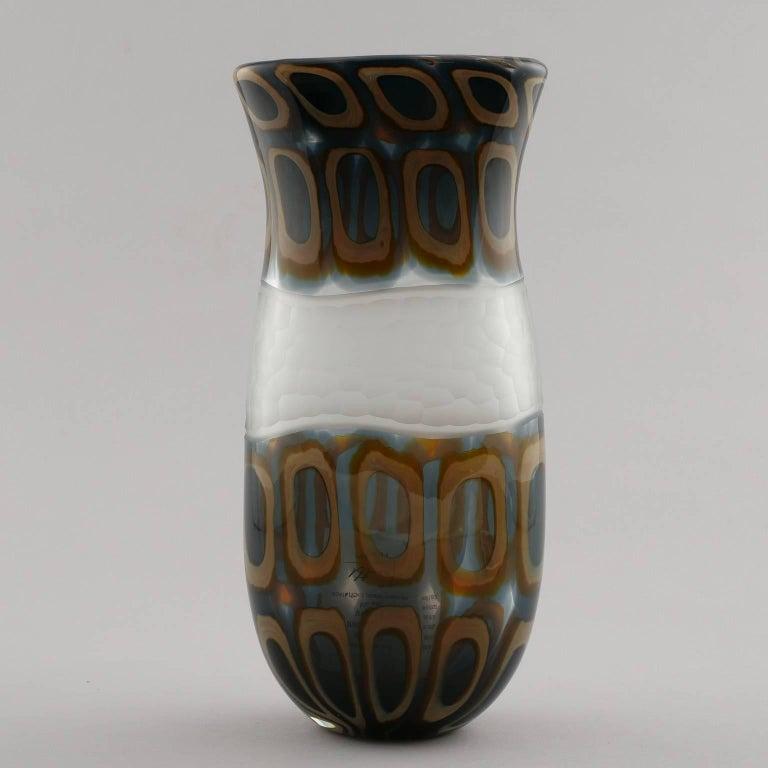 Vintage Formentello Green Handmade Murano Glass Vase For