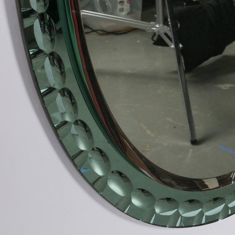 Oval Mirror Attributed to Max Ingrand for Fontana Arte 4