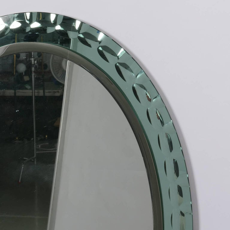Oval Mirror Attributed to Max Ingrand for Fontana Arte 5