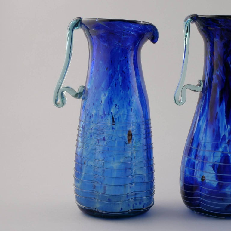 Blue Murano Glass Pitcher For Sale 1