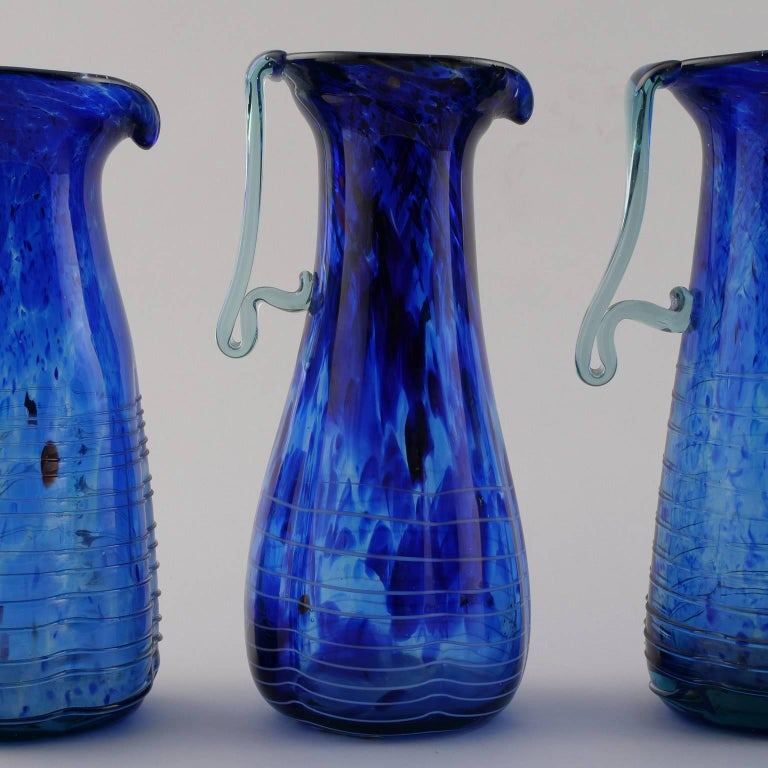 Blue Murano Glass Pitcher For Sale 2