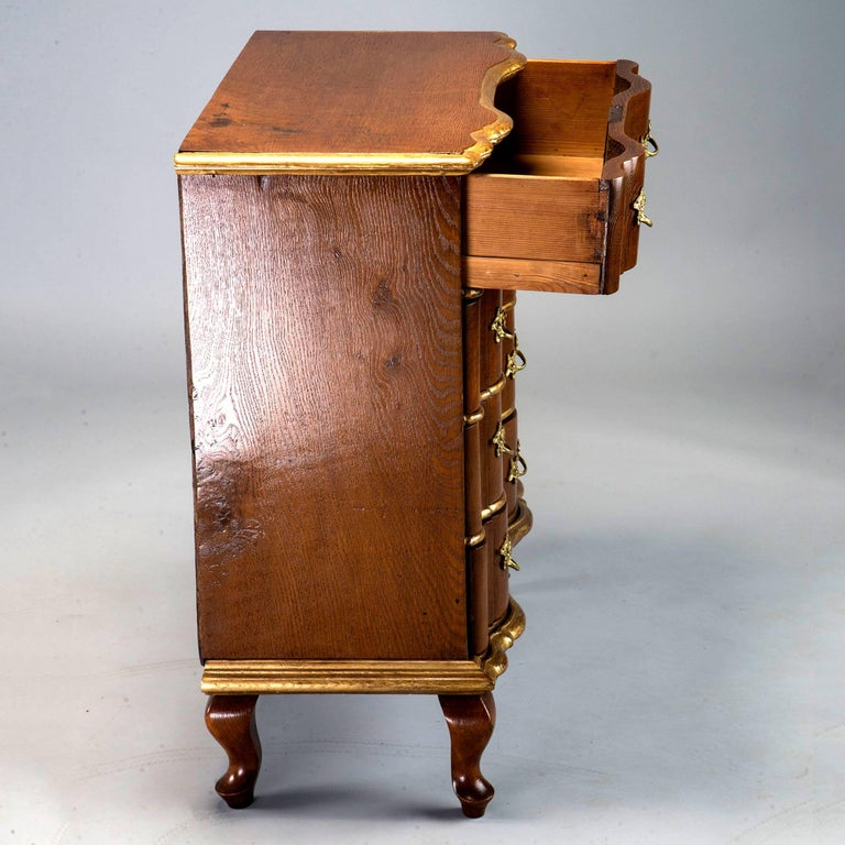 19th Century Danish Chest of Drawers with Gilt Detailing In Good Condition For Sale In Troy, MI