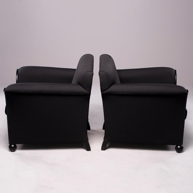 Pair of French Vellum Edged Art Deco Club Chairs In Good Condition For Sale In Troy, MI
