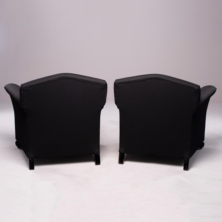 Pair of French Vellum Edged Art Deco Club Chairs For Sale 1