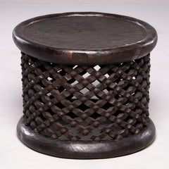African Bameleke Carved Wood Table or Stool