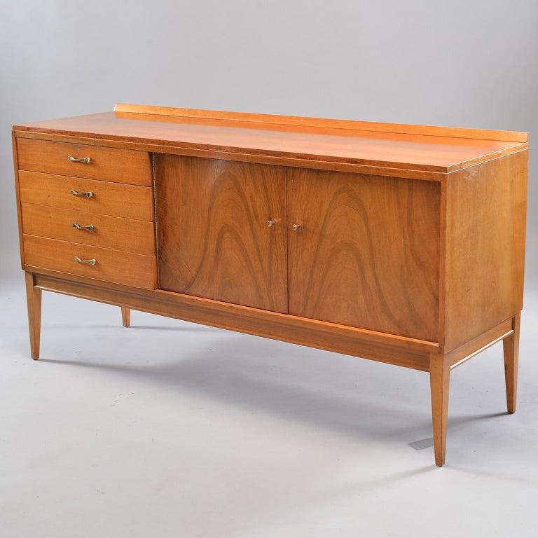 Mid-Century Modern Midcentury English Walnut Sideboard For Sale
