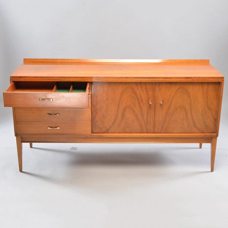 20th Century Midcentury English Walnut Sideboard For Sale
